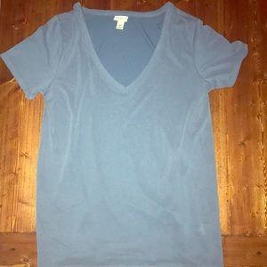 Soft blue vneck shirt